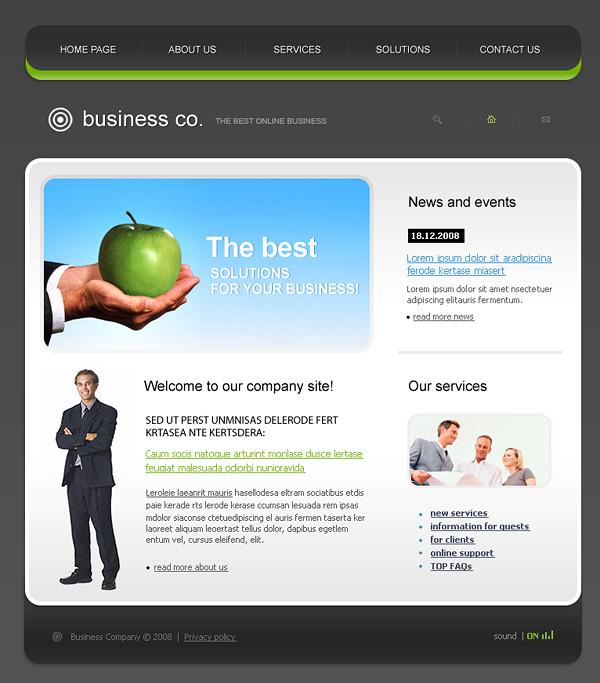 Exquisite European-style Web site templates psd + fla source file -2