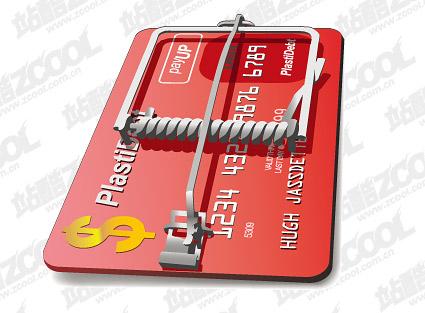 Credit card trap vector material