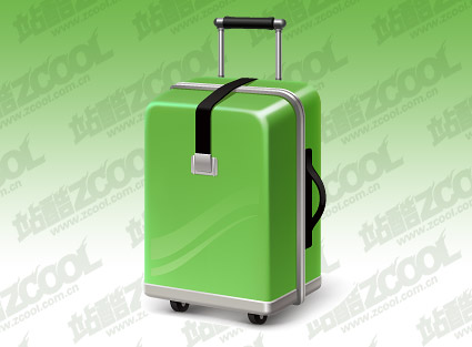 Green suitcase vector