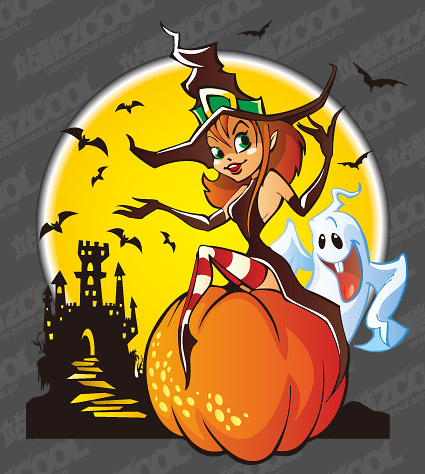 Halloween element vector illustration material