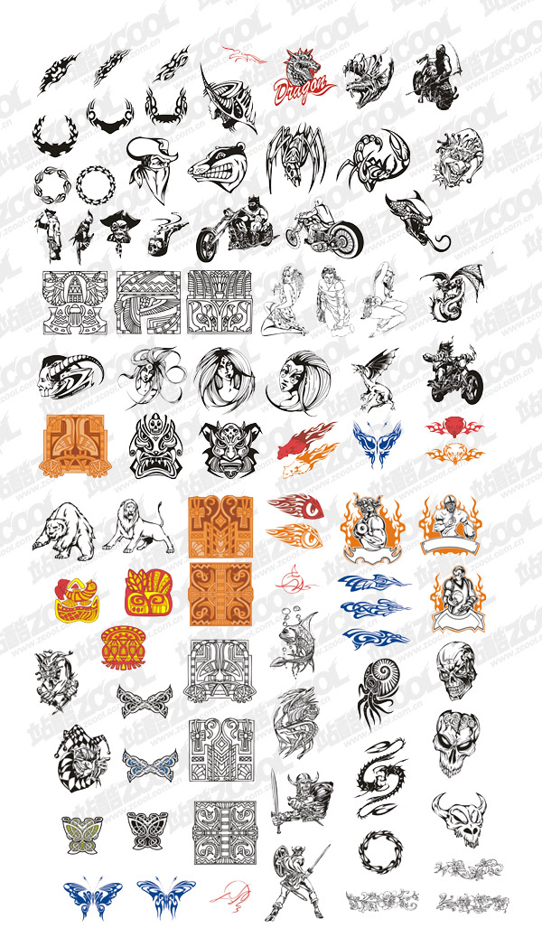 Vector material elements of the tide