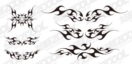 Shape of the wings totem vector material