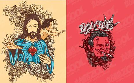 People theme t-shirt design vector