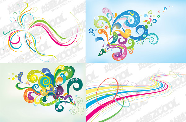 Line design elements vector material