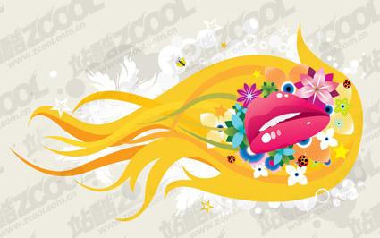 Design mouth vectors