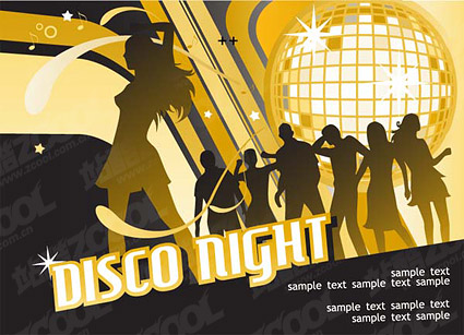 disco night vector material