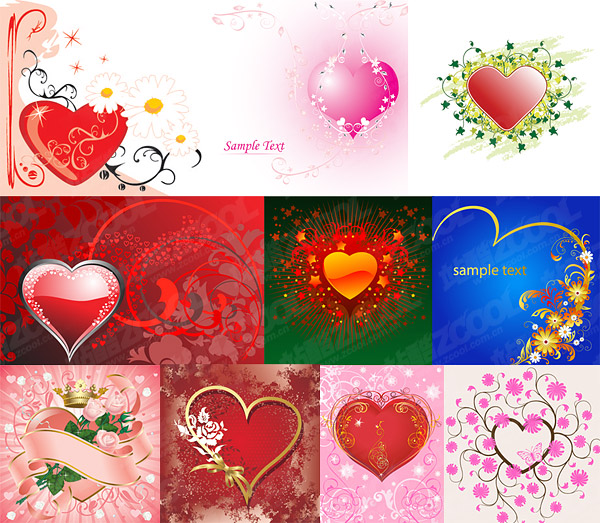 heart-shaped theme of the vector material