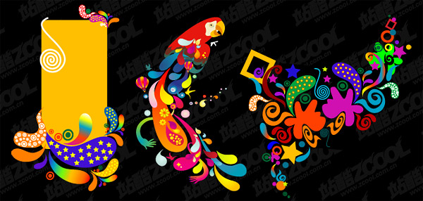 the trend of color vector graphics material