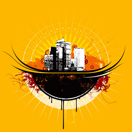 The trend of urban theme vector