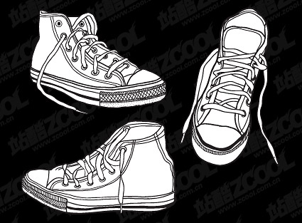 Vector shoes material