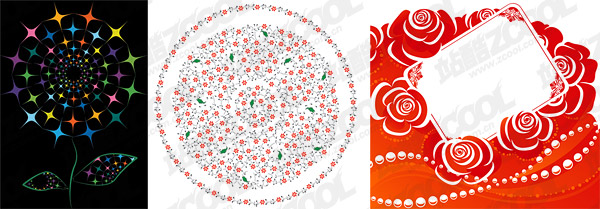 Delicate flower pattern vector
