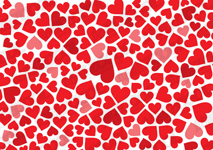 Heart-shaped background material vector