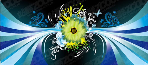 Daisy the main vector background material