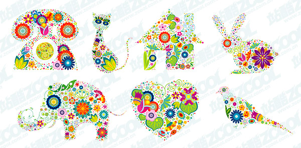 lovely flower pattern Vector