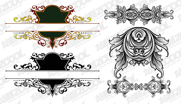 gorgeous European-style classical pattern vector