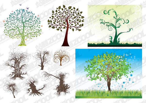 trees pattern vector