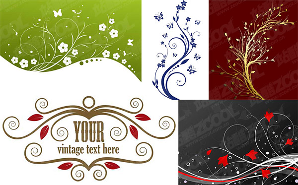 fashion pattern vector material