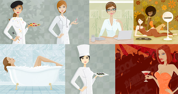 Women vector illustration