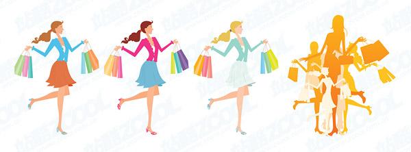 Female fashion shopping