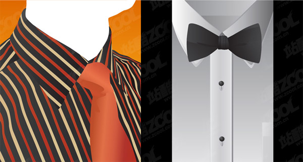 Vector shirt and tie material