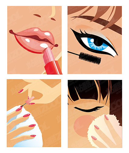 women make-up material vector