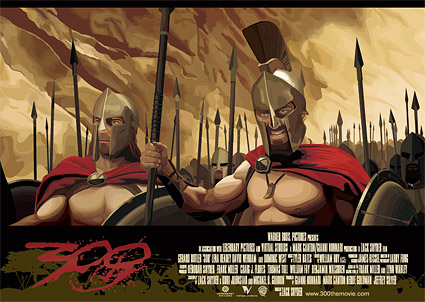 The movie 300 theme vector material