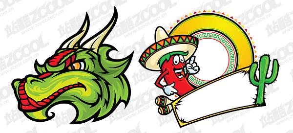 Mexico cartoon style vector