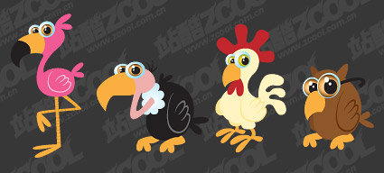 cartoon bird vector material