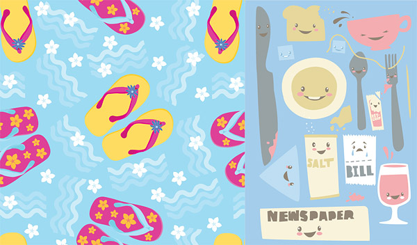 Vector lovely material goods
