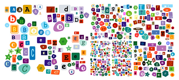Letters of the alphabet vector material