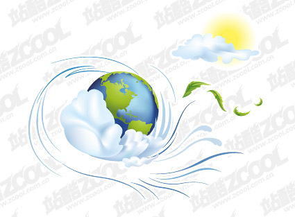 City vector illustration of the earth material