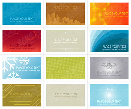 A number of card template vector 2