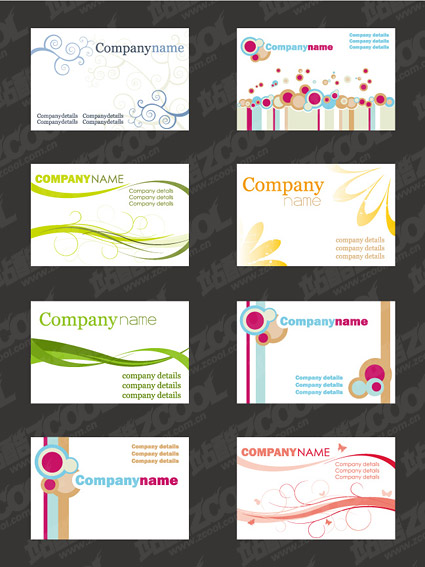 Simple card template vector material