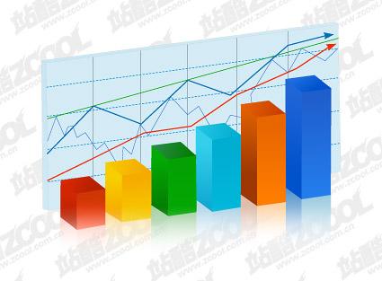 Statistics chart element vector material