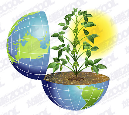 The vitality of the Earth vector material