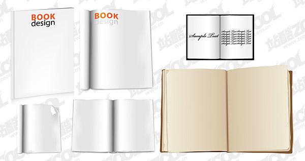 blank books vector