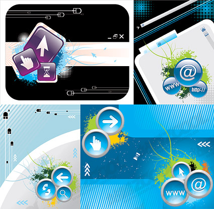 Computer network vector illustration material