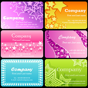 The Star card templates theme vector