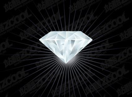 Vector exquisite diamond material