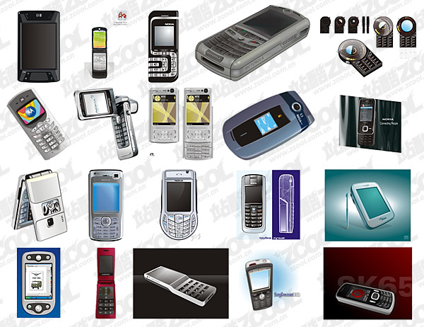 cdr format of the mobile phone vector material