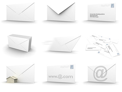 3D picture envelope material