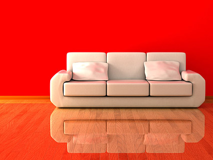3D picture of white sofas material
