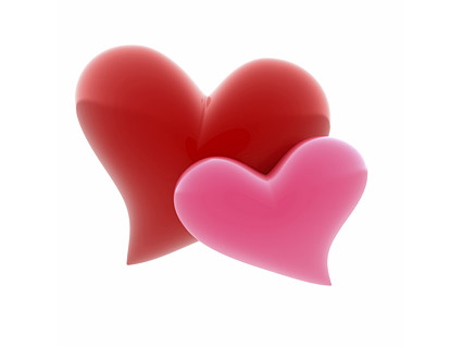 3D heart-shaped picture material