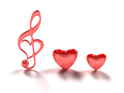 3D heart-shaped note with the picture material