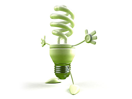 Green energy-saving light bulbs kid picture material