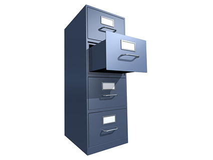 A filing cabinet picture material