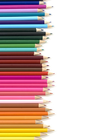 Array of color pencil picture material