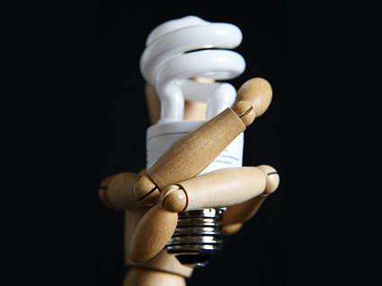 Energy-saving light bulb picture material-1