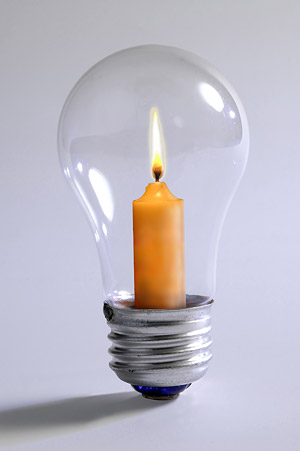 A different type of light bulb picture material