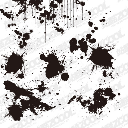 Practical ink blot vector material